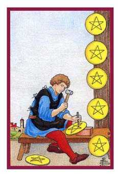 Eight of Coins Tarot Card - Epicurean Tarot Recipe Cards Tarot Deck