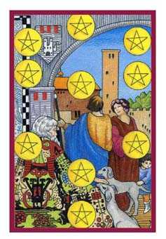 Ten of Diamonds Tarot Card - Epicurean Tarot Recipe Cards Tarot Deck