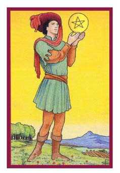 Page of Coins Tarot Card - Epicurean Tarot Recipe Cards Tarot Deck