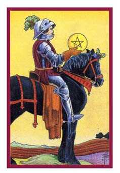 Knight of Coins Tarot Card - Epicurean Tarot Recipe Cards Tarot Deck