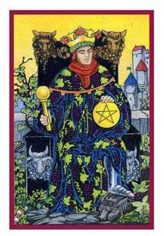 King of Pentacles Tarot Card - Epicurean Tarot Recipe Cards Tarot Deck