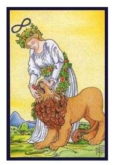 Strength Tarot Card - Epicurean Tarot Recipe Cards Tarot Deck