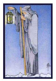 The Anchoret Tarot Card - Epicurean Tarot Recipe Cards Tarot Deck