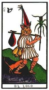 The Foolish Man Tarot Card - Esoterico Tarot Deck