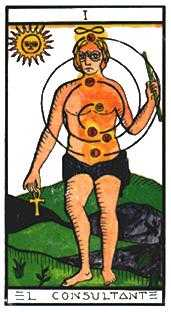 The Magician Tarot Card - Esoterico Tarot Deck