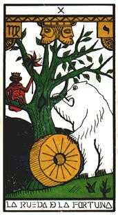 The Wheel of Fortune Tarot Card - Esoterico Tarot Deck