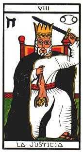 Justice Tarot Card - Esoterico Tarot Deck