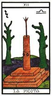 The Hanged Man Tarot Card - Esoterico Tarot Deck
