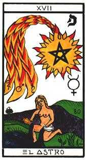The Star Tarot Card - Esoterico Tarot Deck