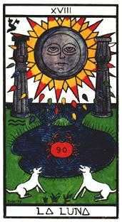The Moon Tarot Card - Esoterico Tarot Deck