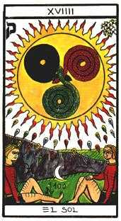 The Sun Tarot Card - Esoterico Tarot Deck