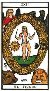 The World Tarot Card - Esoterico Tarot Deck