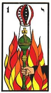 Ace of Fire Tarot Card - Esoterico Tarot Deck
