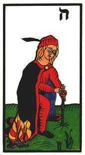Page of Lightening Tarot Card - Esoterico Tarot Deck