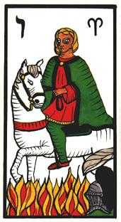 Knight of Batons Tarot Card - Esoterico Tarot Deck