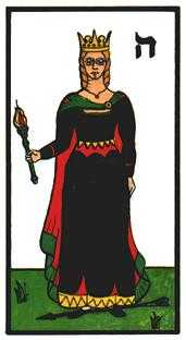 Queen of Clubs Tarot Card - Esoterico Tarot Deck