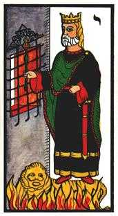 King of Staves Tarot Card - Esoterico Tarot Deck