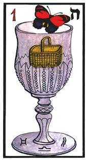 Ace of Hearts Tarot Card - Esoterico Tarot Deck