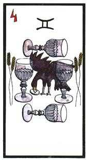 Four of Cauldrons Tarot Card - Esoterico Tarot Deck