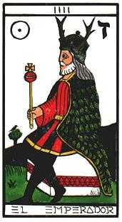 The Emperor Tarot Card - Esoterico Tarot Deck