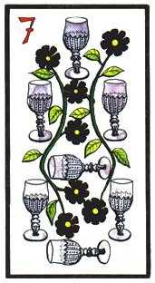 Seven of Hearts Tarot Card - Esoterico Tarot Deck