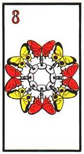 Eight of Hearts Tarot Card - Esoterico Tarot Deck