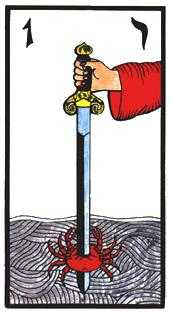 Ace of Arrows Tarot Card - Esoterico Tarot Deck