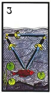 Three of Bats Tarot Card - Esoterico Tarot Deck