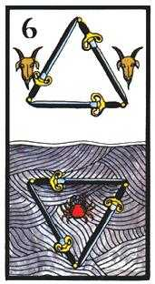Six of Arrows Tarot Card - Esoterico Tarot Deck