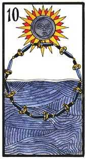 Ten of Arrows Tarot Card - Esoterico Tarot Deck