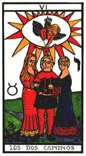 The Lovers Tarot Card - Esoterico Tarot Deck