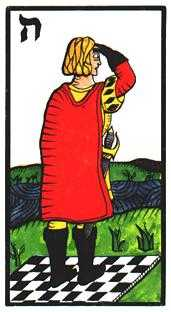 Valet of Swords Tarot Card - Esoterico Tarot Deck