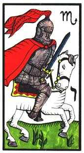 Knight of Spades Tarot Card - Esoterico Tarot Deck