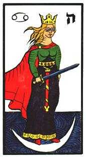 Queen of Swords Tarot Card - Esoterico Tarot Deck