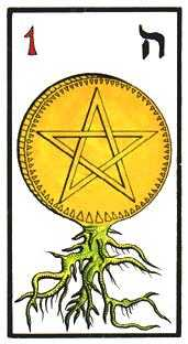 Ace of Pentacles Tarot Card - Esoterico Tarot Deck