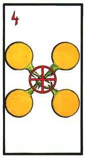 Four of Pentacles Tarot Card - Esoterico Tarot Deck
