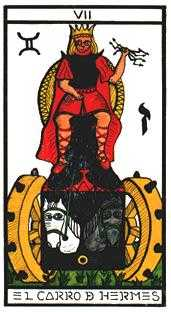 The Chariot Tarot Card - Esoterico Tarot Deck