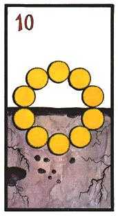 Ten of Discs Tarot Card - Esoterico Tarot Deck