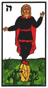 Page of Buffalo Tarot Card - Esoterico Tarot Deck
