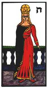 Queen of Coins Tarot Card - Esoterico Tarot Deck