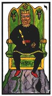 King of Buffalo Tarot Card - Esoterico Tarot Deck