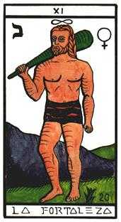 Strength Tarot Card - Esoterico Tarot Deck