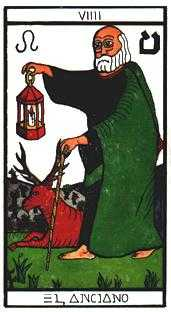 The Hermit Tarot Card - Esoterico Tarot Deck