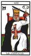 Justice Tarot card in Esoterico deck