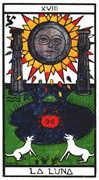 The Moon Tarot card in Esoterico deck