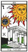 Judgement Tarot card in Esoterico deck