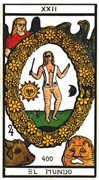 The World Tarot card in Esoterico deck