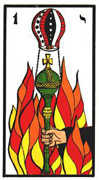 Ace of Wands Tarot card in Esoterico deck