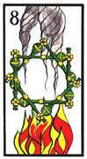 Eight of Wands Tarot card in Esoterico Tarot deck