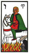 Knight of Wands Tarot card in Esoterico deck